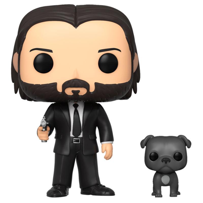 Funko POP o Figura POP John Wick John con traje negro y cachorro