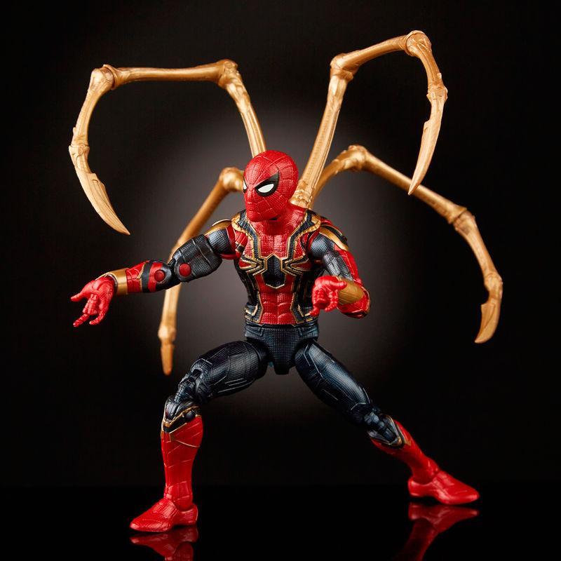 Set figuras Iron Spider & Iron Man 80 Aniversario Marvel Legends By Hasbro (4)
