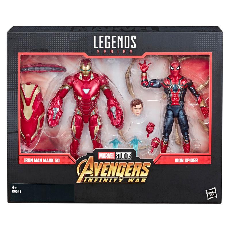 Set figuras Iron Spider & Iron Man 80 Aniversario Marvel Legends By Hasbro