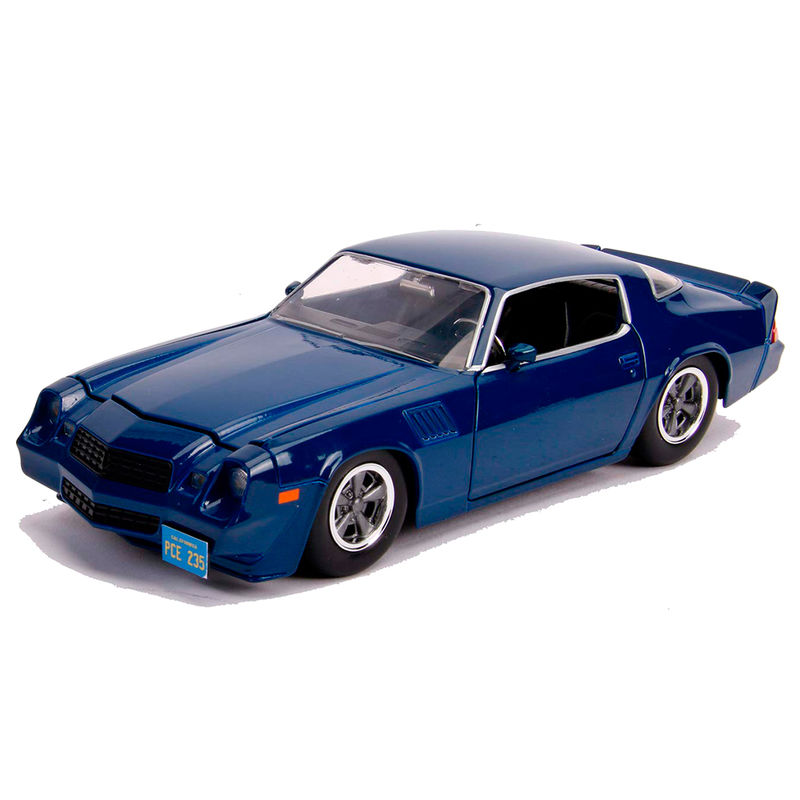 Set Coche metal Chevy Camaro 1979 Z28 Stranger Things & moneda (2)
