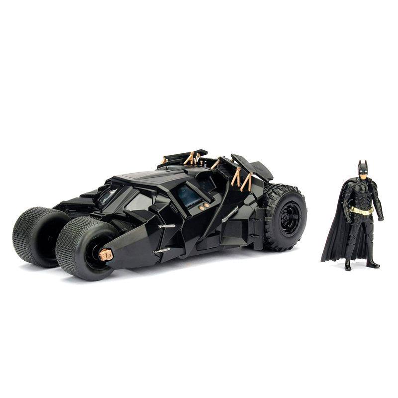 Set figura & coche metal Batmovil 2008 El Caballero Oscuro Batman DC Comics