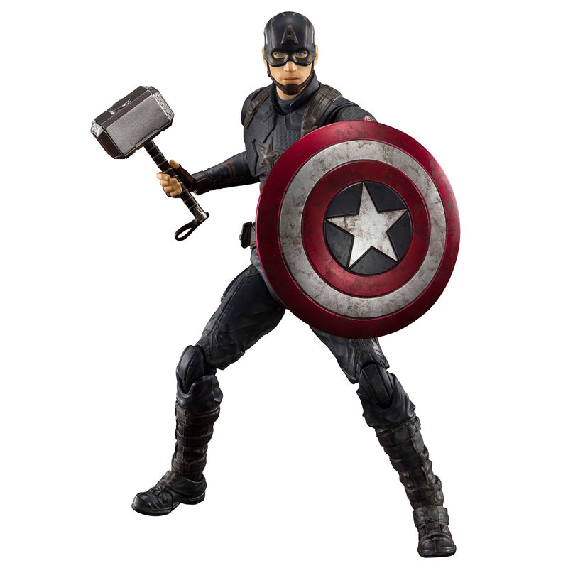 Figura Capitan America Batalla Final Endgame Vengadores Avengers Marvel 15cm.