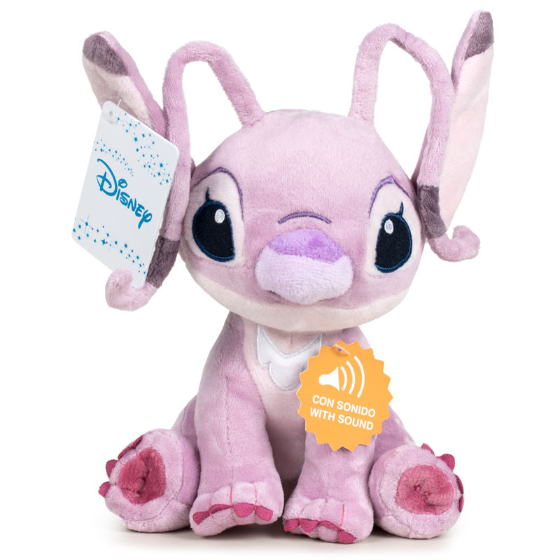 Peluche Angel Stitch Disney soft sonido 30cm
