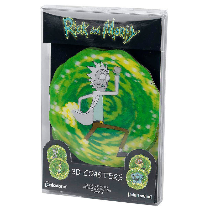 Set 4 posavasos 3D Rick & Morty