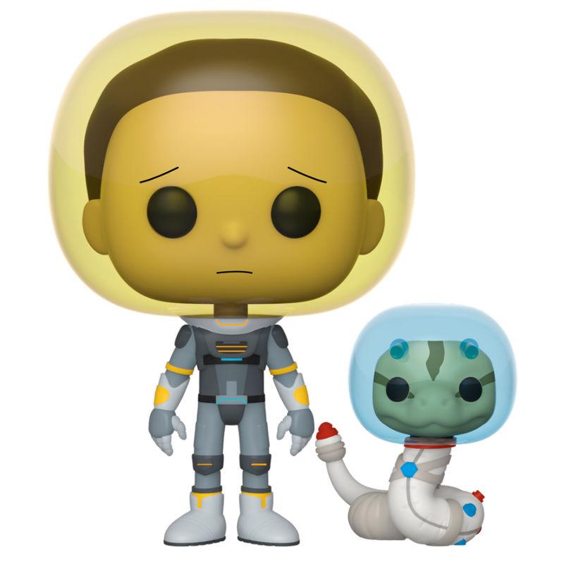 Funko POP o Figura POP Rick and Morty Morty Traje Espacial con Serpiente