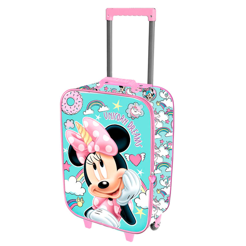 Maleta trolley 3D Minnie Unicornio Disney 52cm
