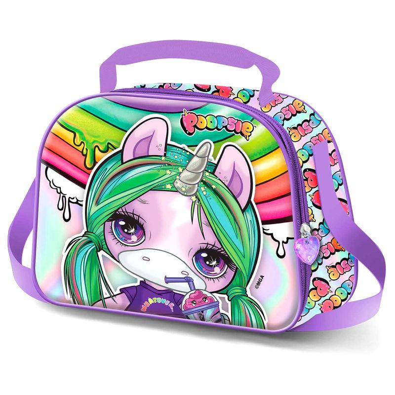 Bolsa portameriendas 3D Unicorn Poopsie 8445118005332