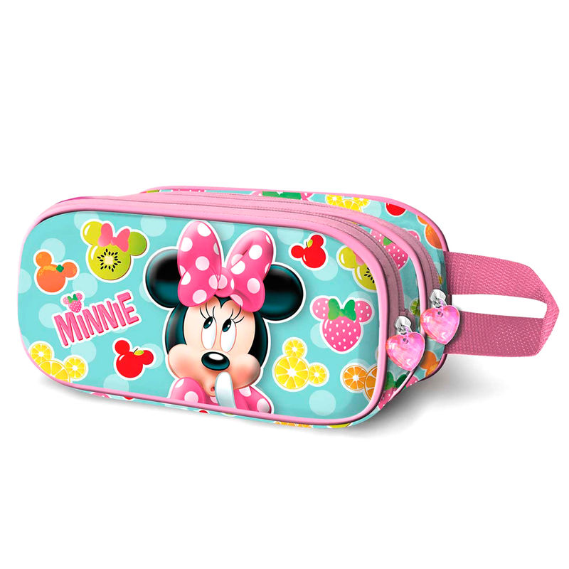 Portatodo 3D Minnie Frutas Disney doble
