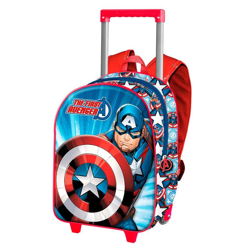 Trolley 3D Capitan America Marvel 38cm