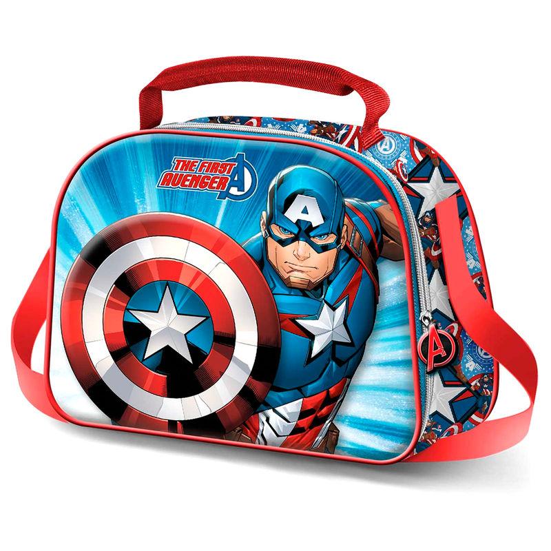 Bolsa portameriendas 3D Capitan America Marvel