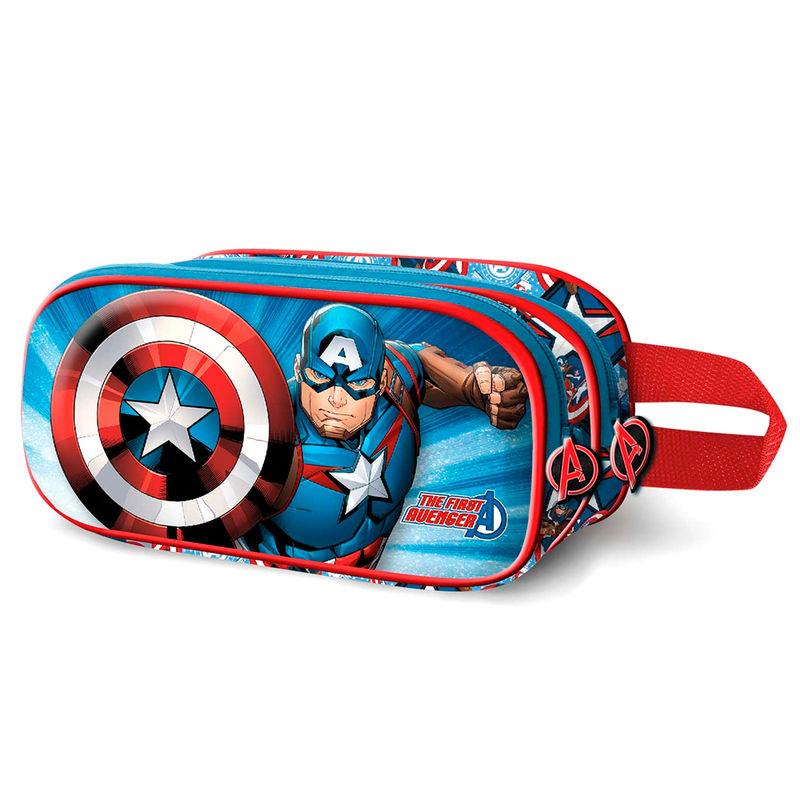 Portatodo Doble 3D Capitan America Marvel