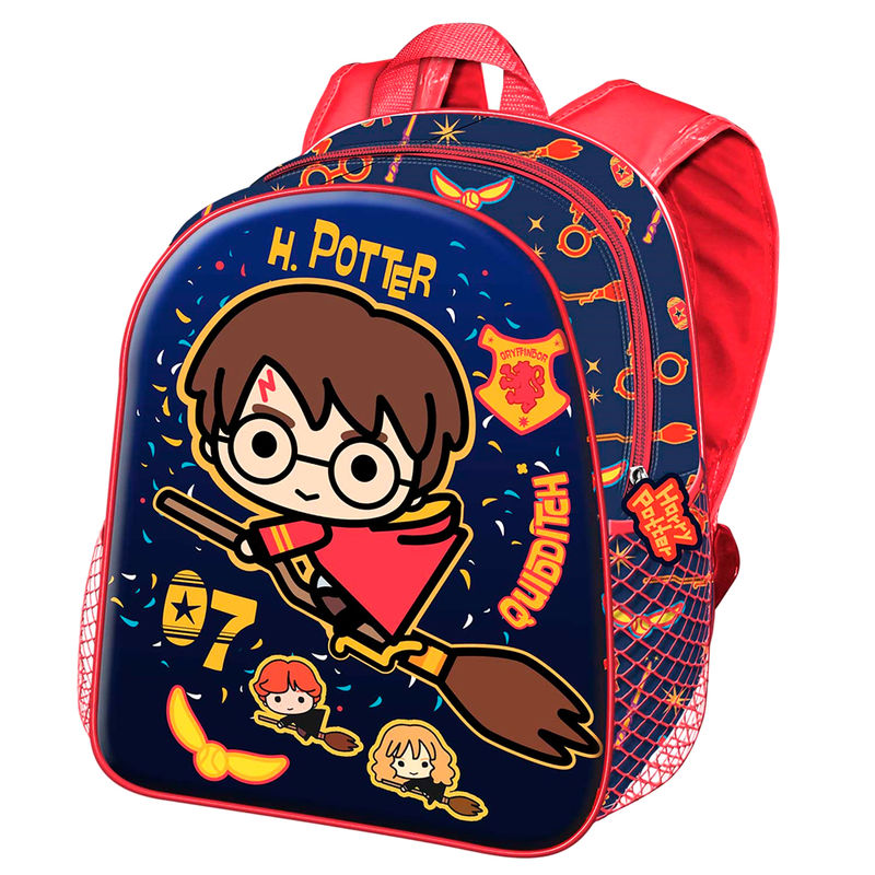 Mochila 3D Quidditch Harry Potter con Escoba 31cm