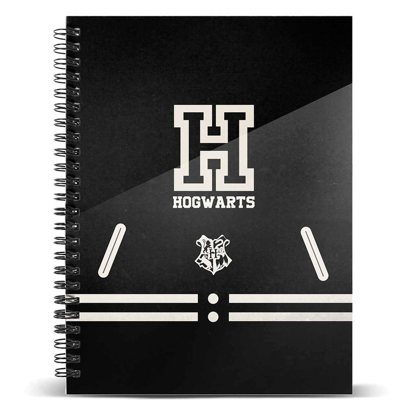 Cuaderno A4 Hogwarts Harry Potter color Negro