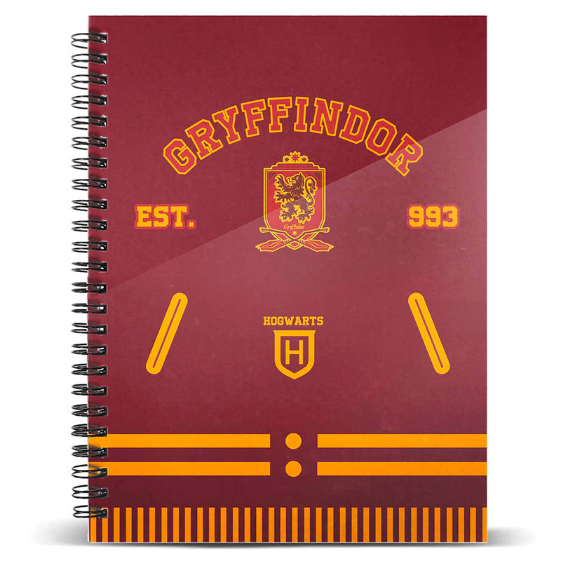 Cuaderno A4 Gryffindor Harry Potter