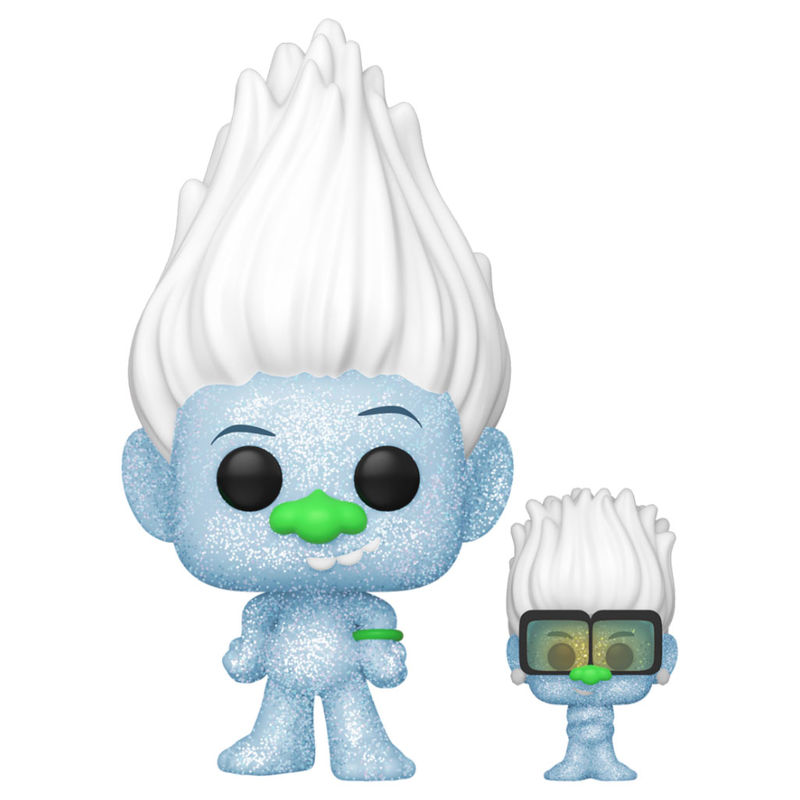 Funko POP o Figura POP Trolls World Tour Hip Hop Guy Diamond DGLT with Tiny Glitter