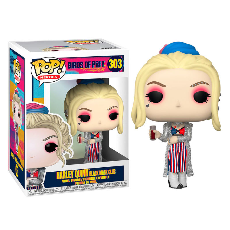 Funko POP o Figura POP DC Birds of Prey Harley Quinn Black Mask Club