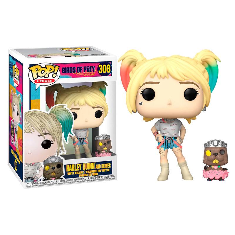 Funko POP o Figura POP DC Birds of Prey Harley Quinn con Castor