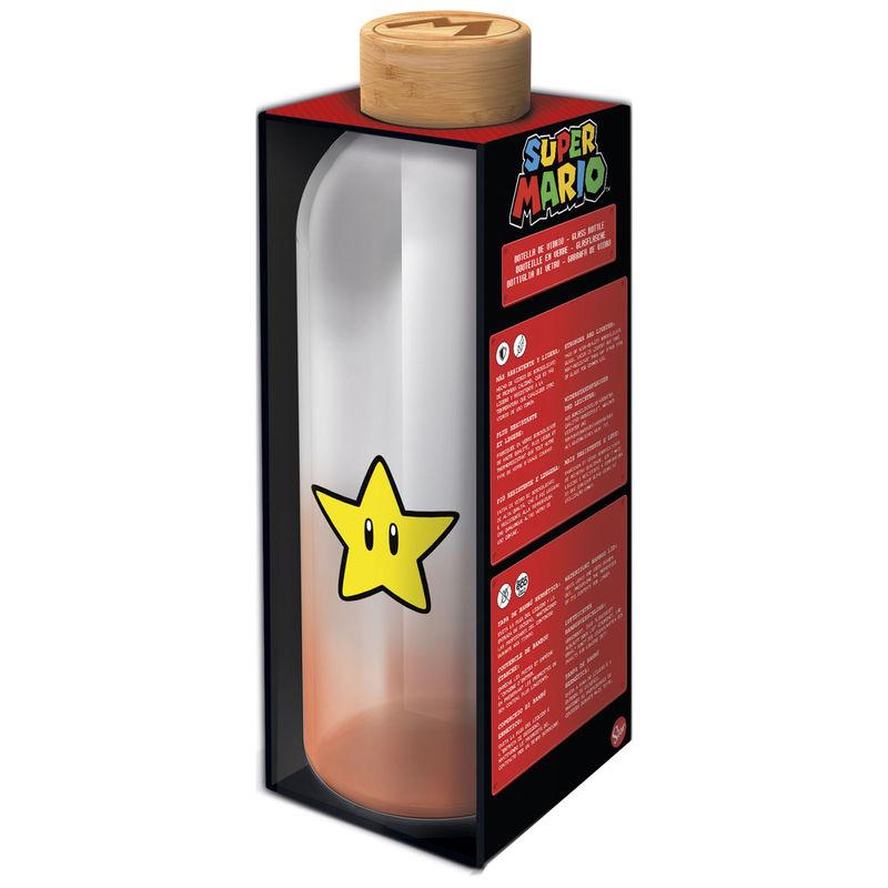 Botella cristal Super Mario Bros Nintendo 1030ml 8412497003839