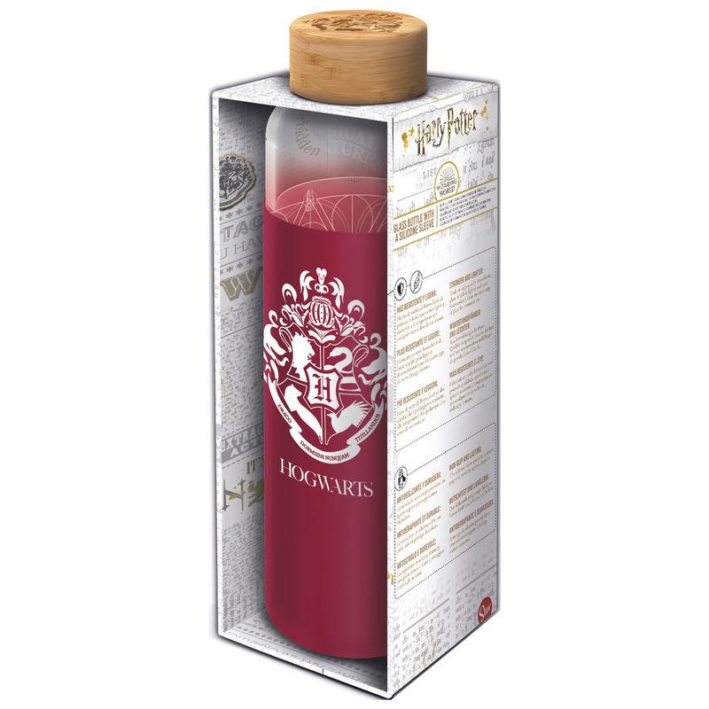 Botella cristal Harry Potter funda silicona 585ml 8412497003457