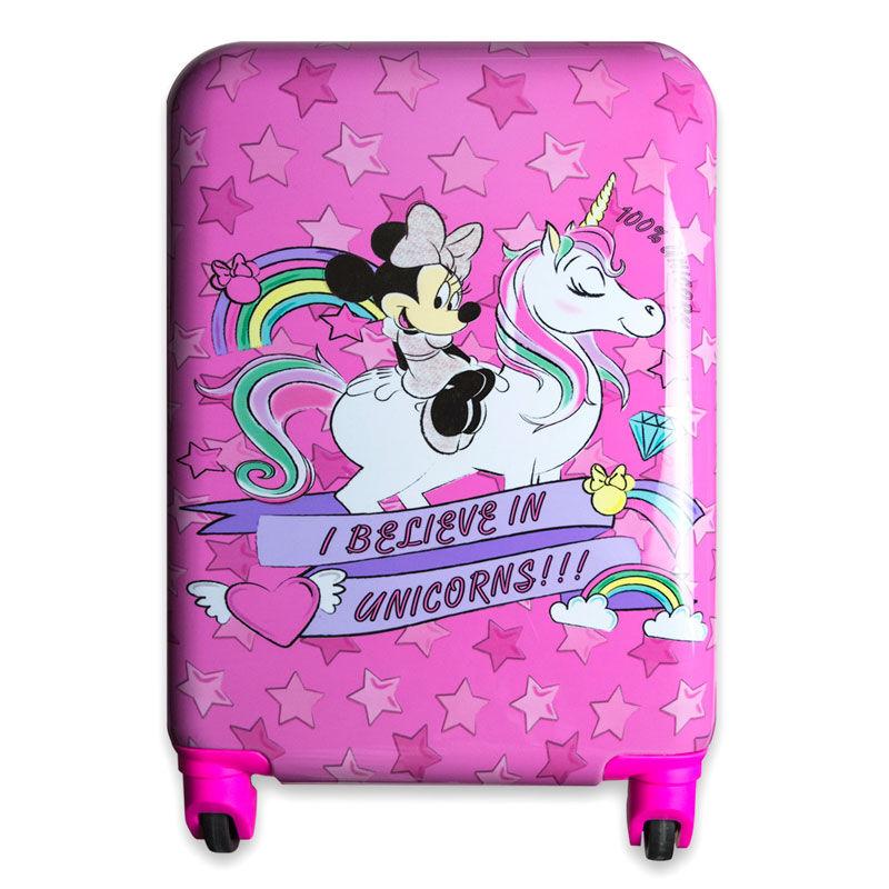 Maleta trolley ABS Unicornio Minnie Disney 4r 48cm