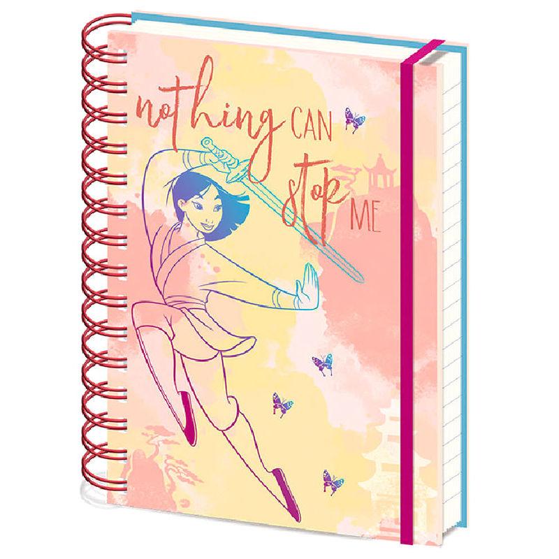Cuaderno A5 Nothing Can Stop Me Mulan Disney