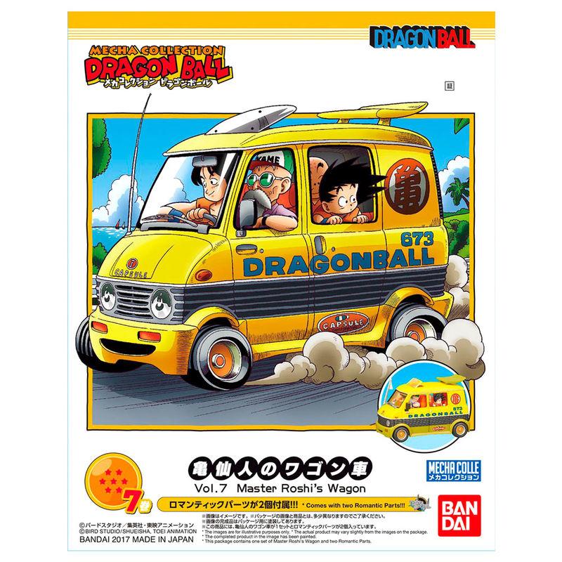 Figura replica Master Roshi Wagon Model Kit Dragon Ball Mecha Collection 8cm By Bandai