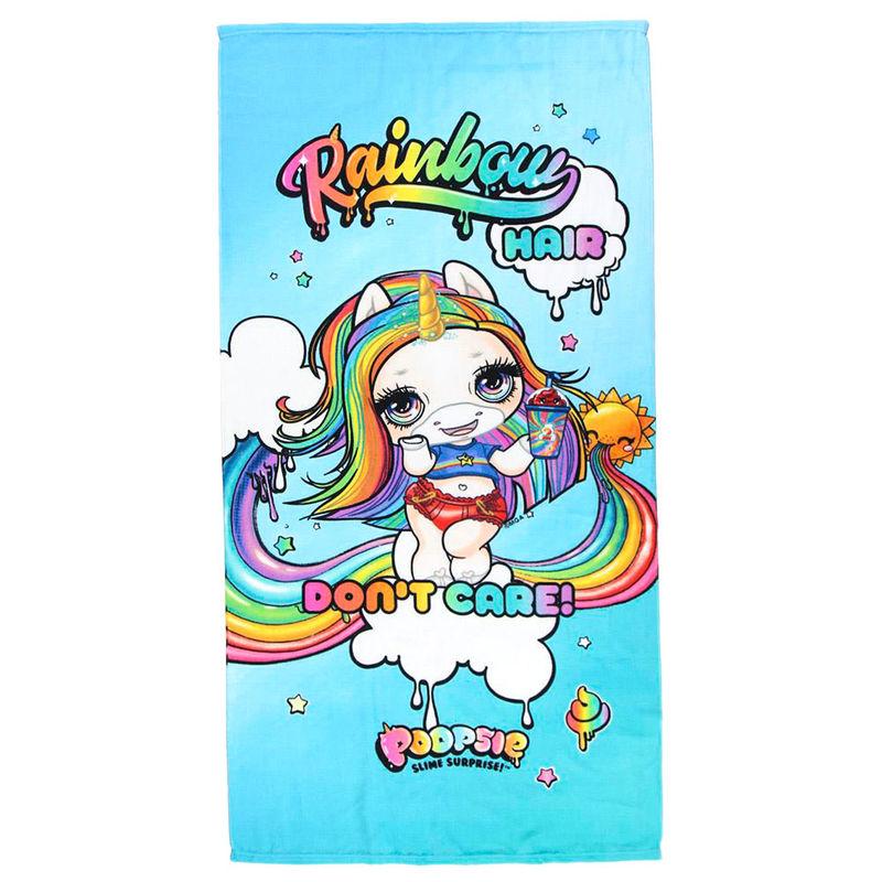 Toalla Rainbow Poopsie microfibra 8427934364756