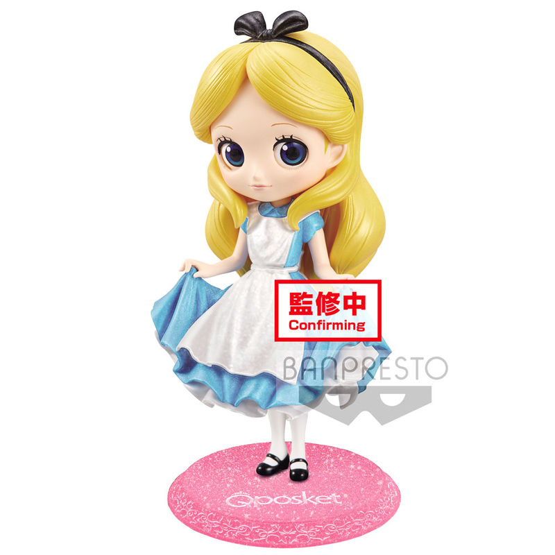 Figura Alice Alicia en el Pais de las Maravillas Disney Glitter Q Posket A 14cm 4983164164138