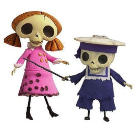 Set 2 figuras Collector Doll Skeleton Boy and Girl - La Novia Cadaver