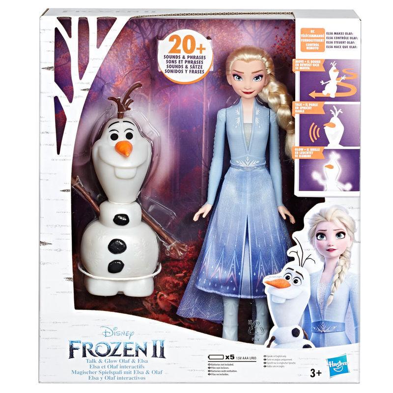 Set muñeca Elsa y Olaf Frozen 2 Disney interactivos