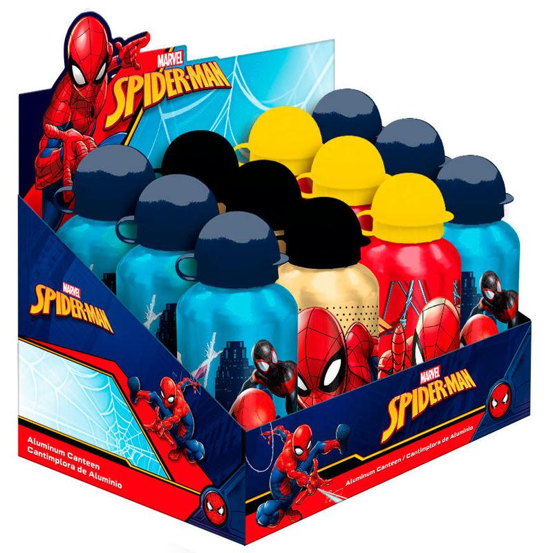 Cantimplora aluminio Spiderman Marvel surtido 8435507830614