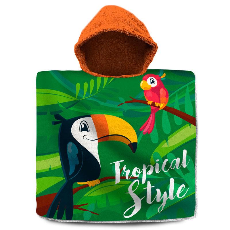 Poncho toalla Tucan Tropical Style algodon 8435507828659