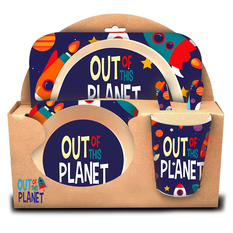 Set menaje Out of this Planet bambu 8435507832922