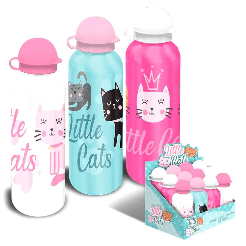Cantimplora aluminio Little Cats surtido 8435507833387