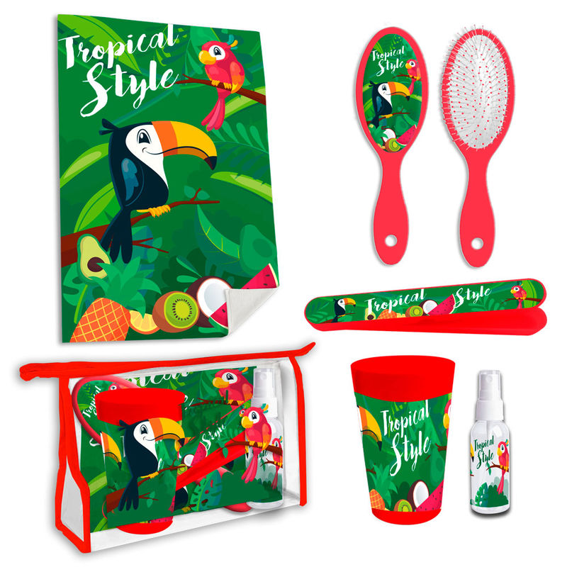 Set neceser aseo Tucan Tropical Style 8435507828734