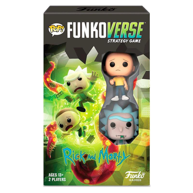 Juego de mesa POP Funkoverse Rick and Morty 2fig Español