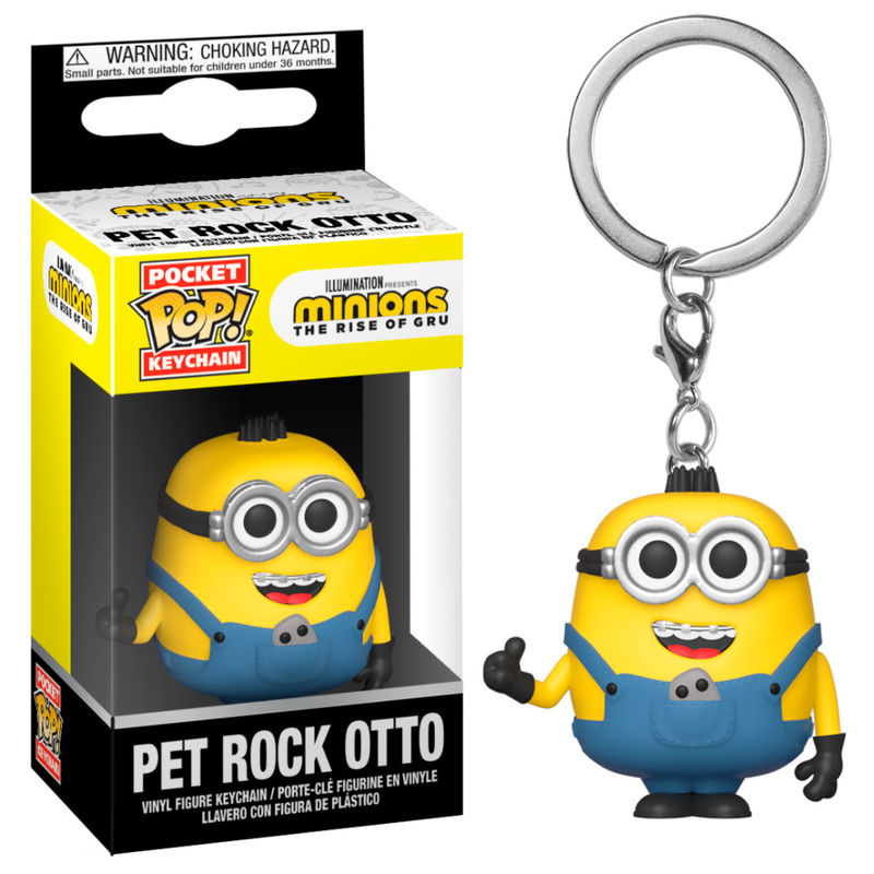 Llavero Pocket POP Minions 2 Pet Rock Otto