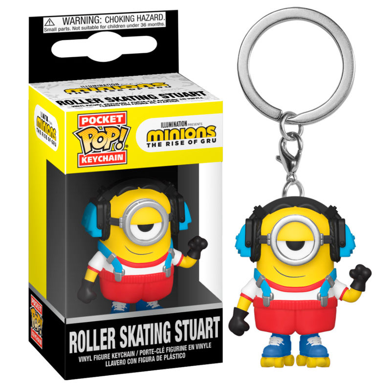 Llavero Pocket POP Minions 2 Roller Skating Stuart