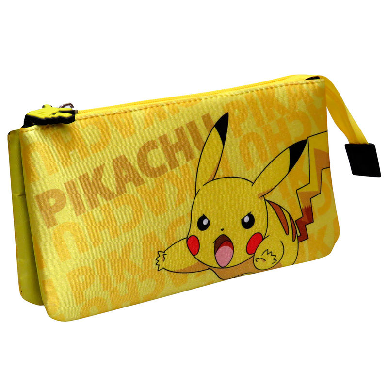 Portatodo Pikachu Pokemon triple 8426842082479