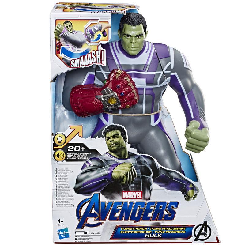 Figura Hulk Puño Poderoso Vengadores Marvel 35cm By Hasbro
