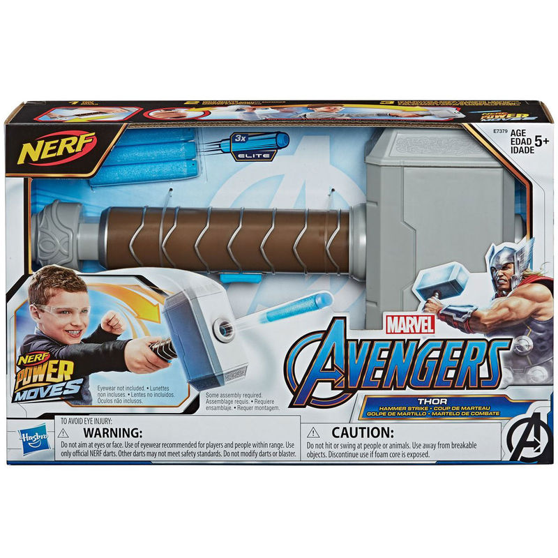 Lanzador Martillo Thor Vengadores Marvel Nerf By Hasbro
