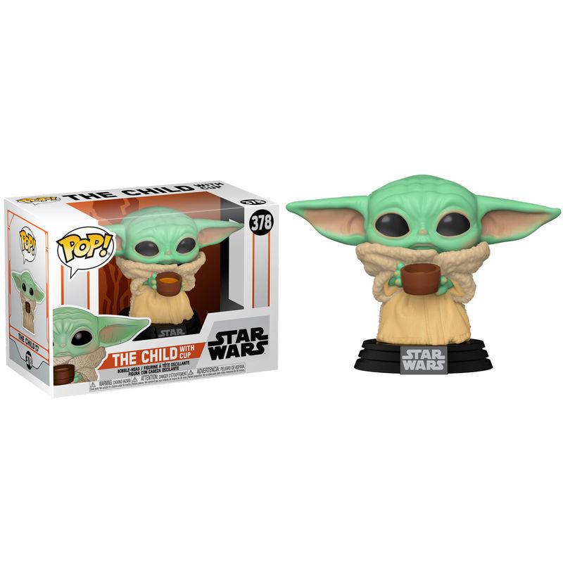 Funko POP Star Wars Mandalorian Baby Yoda con Taza