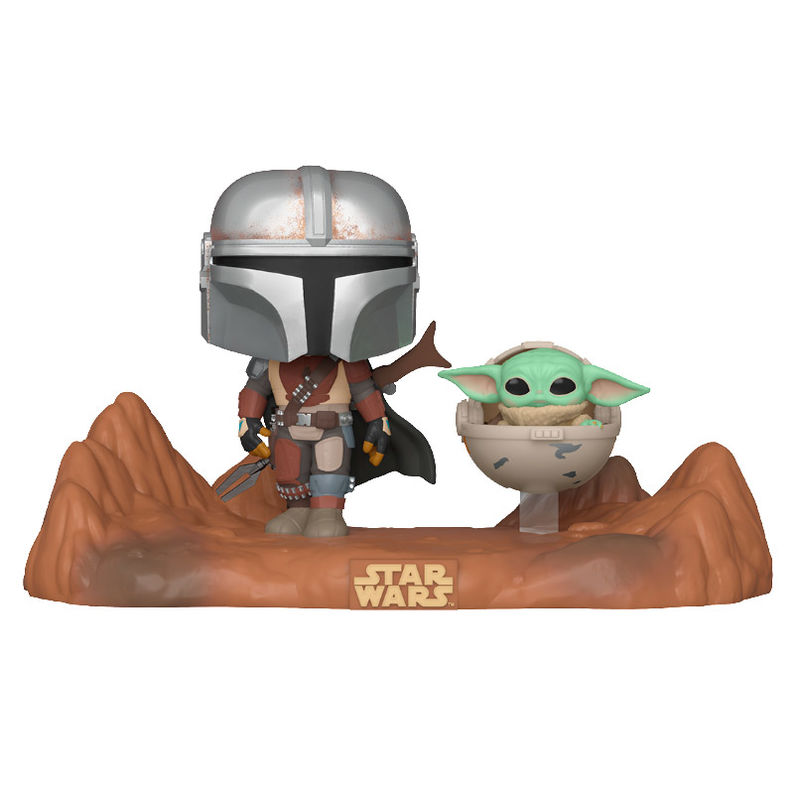 Funko POP o Figura POP Star Wars Mandalorian - Mandalorian y Baby Yoda (3)