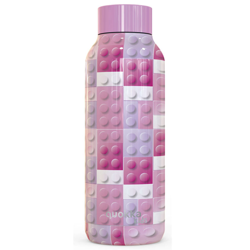 Botella Solid Pink Bricks Quokka 510ml 8412497118410