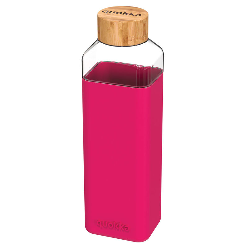 Botella cuadrada Storm Maroon Quokka 700ml 8412497400256
