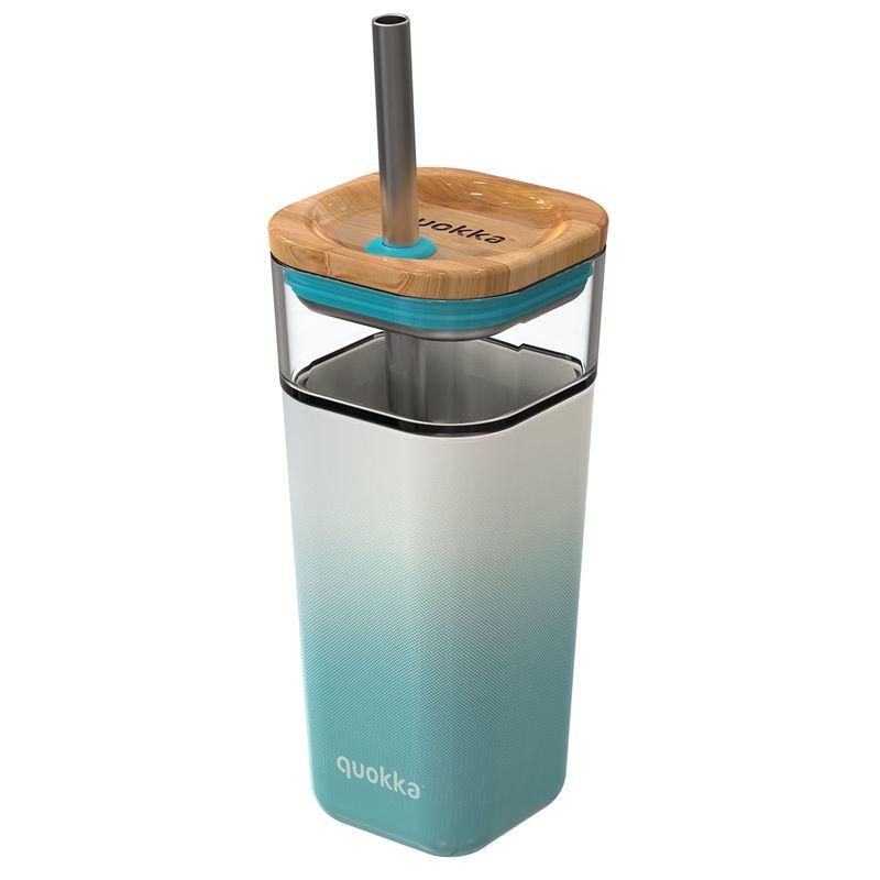 Vaso cristal Liquid Cube Teal Gradient Quokka 540ml 8412497400546