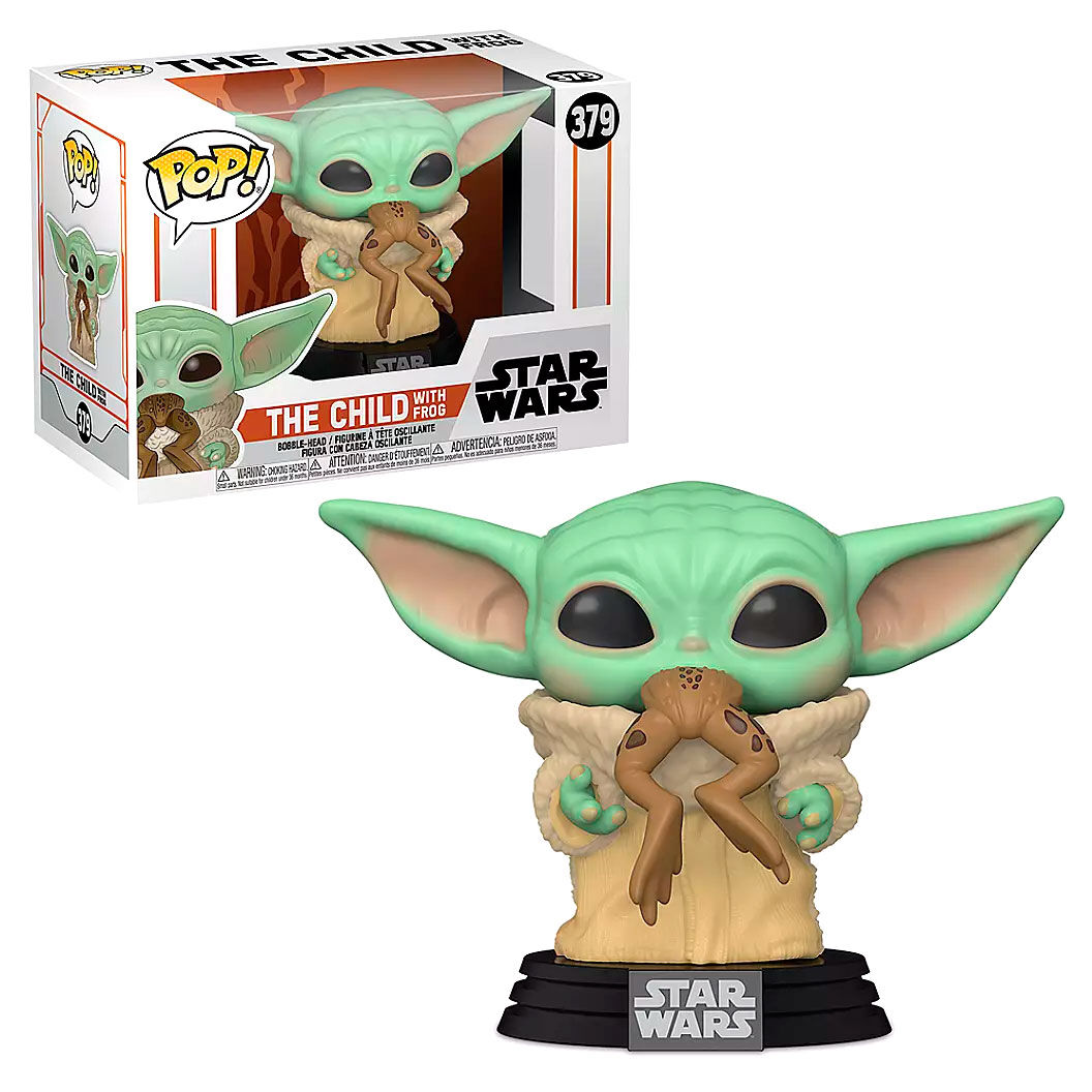 Funko POP Star Wars Mandalorian Baby Yoda (The Child) con rana