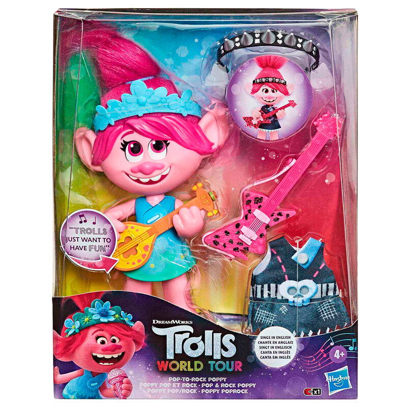 Muñeca Poppy Rock Trolls World Tour