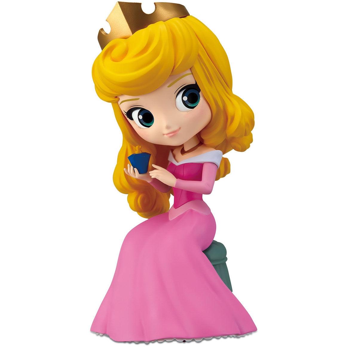 Figura Princesa Aurora Disney Character Q posket perfumagic A 12cm By Banpresto
