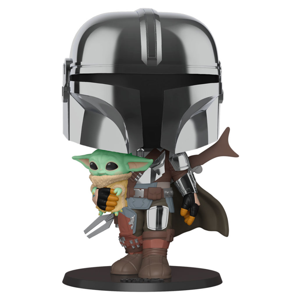 Funko POP o Figura POP Star Wars Mandalorian - Mandalorian con Baby Yoda The Child 25cm